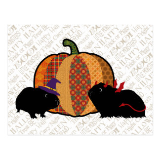 Postal Conejillo de Indias Halloween