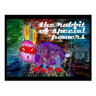 Postal Conejo de los poderes especiales [postal]