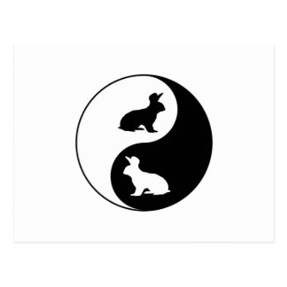 Postal Conejos de Yin Yang