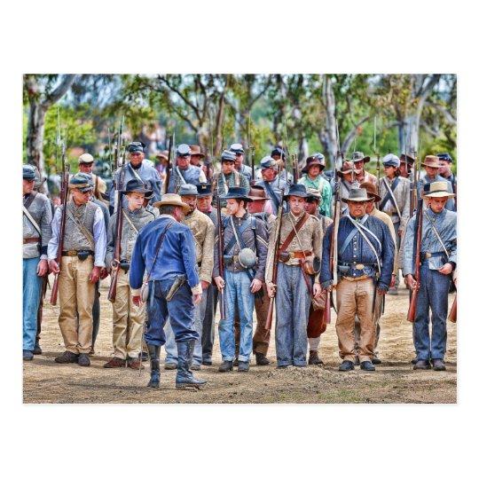 Postal confederada de la formación