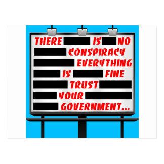 Postal Confianza de la cartelera su gobierno