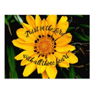 Postal Confianza en el señor Bright Yellow Flower