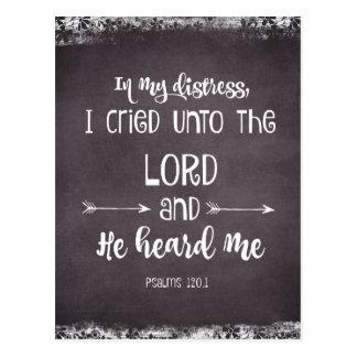 Postal Confortar verso de la biblia de los salmos