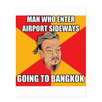 Postal Confucio dice ir a Bangkok