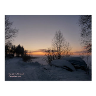 Postal congelada del lago