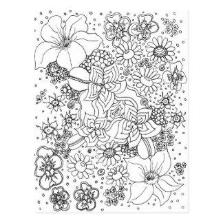 Postal Conglomeración de flores