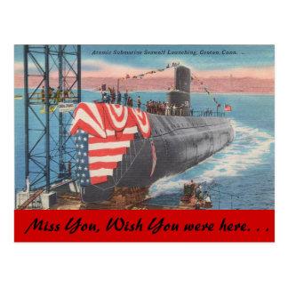 Postal Connecticut, lanzamiento submarino atómico