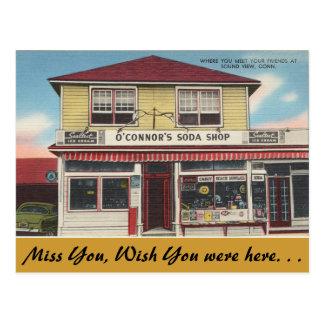 Postal Connecticut, tienda de la soda de O'Connor, visión