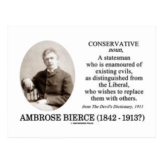 Postal Conservador de Ambrose Bierce el diccionario del