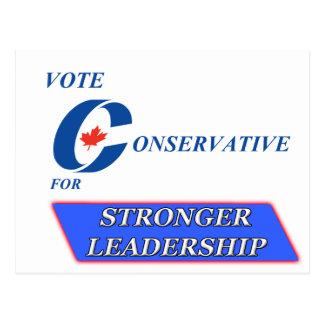 Postal Conservador del voto para una dirección más fuerte