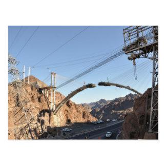 Postal Construcción de puente del Preso Hoover