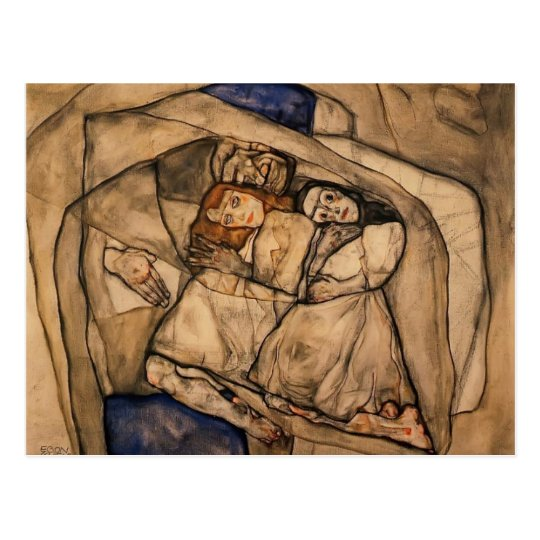 Postal Conversión de Egon Schiele-