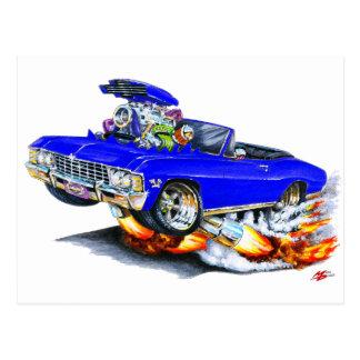Postal Convertible azul 1965-66 del impala