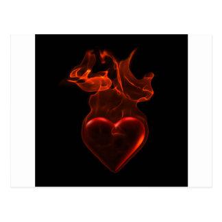 Postal Corazón ardiente