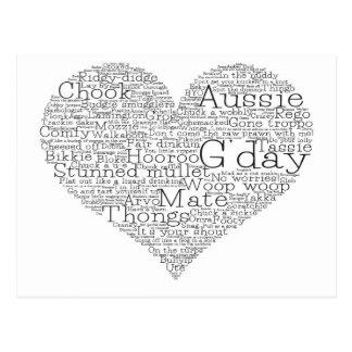 Postal Corazón australiano del argot