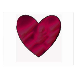 Postal Corazón carmesí del amor
