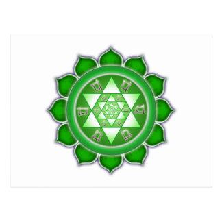 Postal Corazón Chakra - floración del fractal