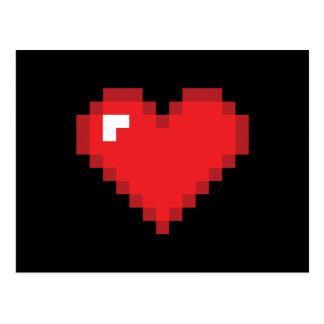 Postal corazón de 8 bits
