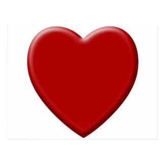 Postal Corazón de amor rojo