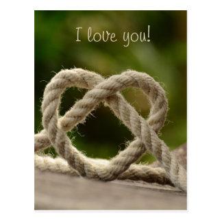 Postal Corazón de la cuerda