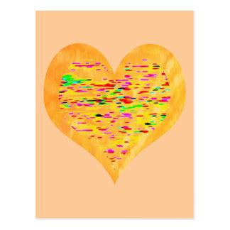 Postal Corazón de oro de la sol