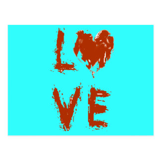Postal Corazón del amor del Grunge