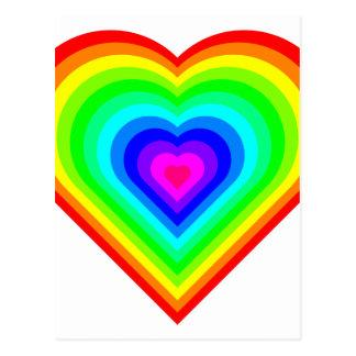 Postal Corazón del arco iris