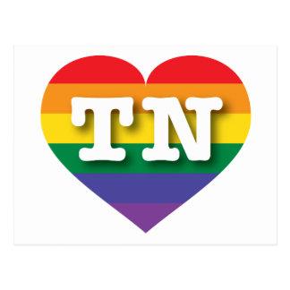 Postal Corazón del arco iris del orgullo gay de Tennessee