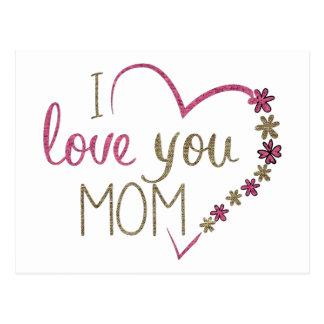 Postal Corazón del día de madres de la mamá del amor
