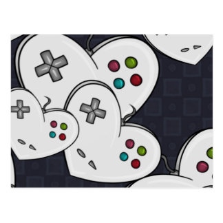 Postal Corazón del regulador del amor del videojugador