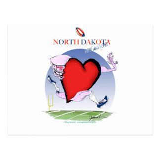Postal corazón principal de Dakota del Norte, fernandes