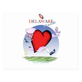 Postal corazón principal de Delaware, fernandes tony