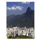 Postal Corcovado que pasa por alto Río de Janeiro, el