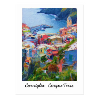 Postal Corniglia Cinque Terre Italia