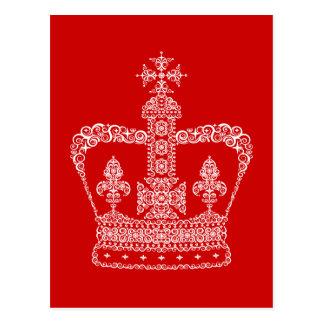 Postal Corona del rey o de la reina