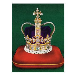 Postal Corona usada en el coronastion de la reina