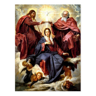 Postal Coronación de la Virgen