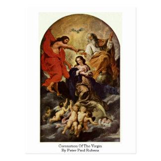Postal Coronación de la Virgen de Peter Paul Rubens