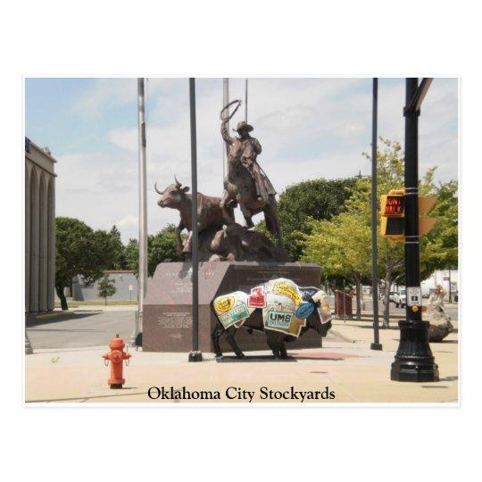 Postal Corrales búfalo y vaquero del Oklahoma City