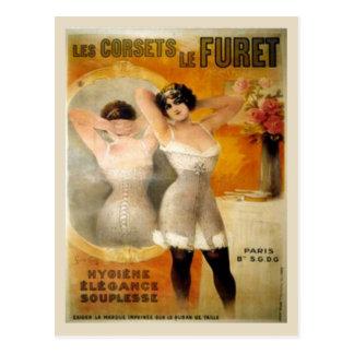 Postal Corsés del vintage, corets de Furet de Les