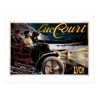 Postal Corte de Lucas - anuncio del automóvil del vintage