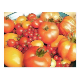Postal Cosecha abundante - tomates de la herencia