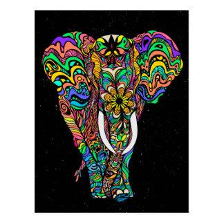 Postal Cosmic elephant love by #Bizzartino