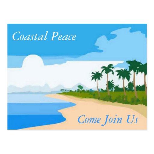 Postal costera de la paz