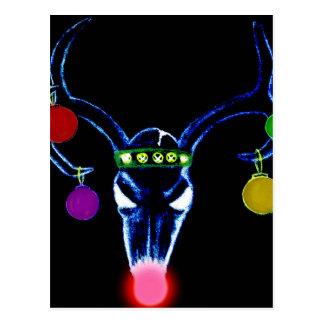 Postal Cráneo psicodélico de Rudolph