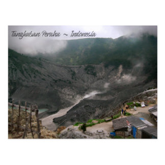 Postal Cráter Indonesia del volcán