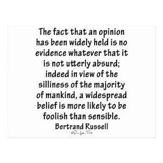 Postal Creencias de Bertrand Russell