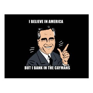 Postal Creo en América pero ejerzo la actividad bancaria