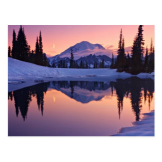 Postal Crepúsculo, el Tarn y luna creciente