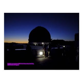 Postal Crepúsculo en el tejado del observatorio de Los